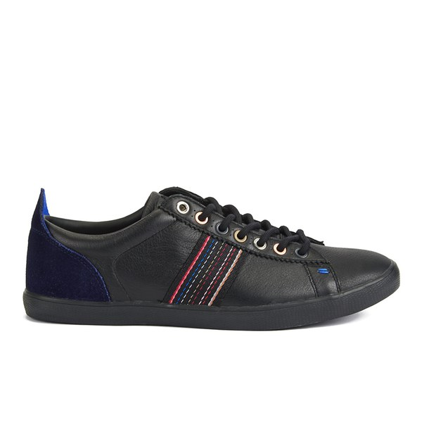 2fef0c026 Paul Smith Shoes Men s Osmo Leather Trainers - Black Mono Lux  Image 1