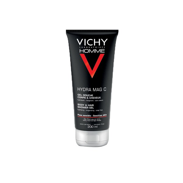Vichy Homme Invigorating Hydra Mag-C Shower Gel 50ml