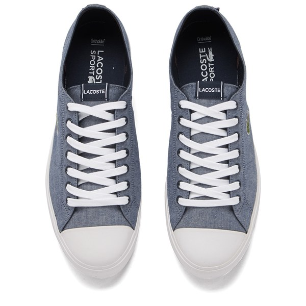 Lacoste Men's Marcel Chunky TC Lin Chambray Trainers - Dark Blue: Image 2