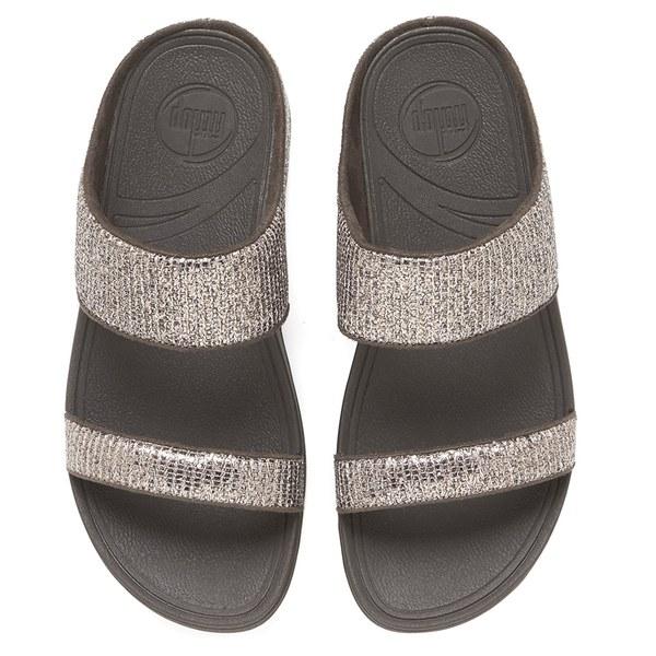 3bc2b22f74d FitFlop Women s Lulu Superglitz Slide Sandals - Bronze Womens ...
