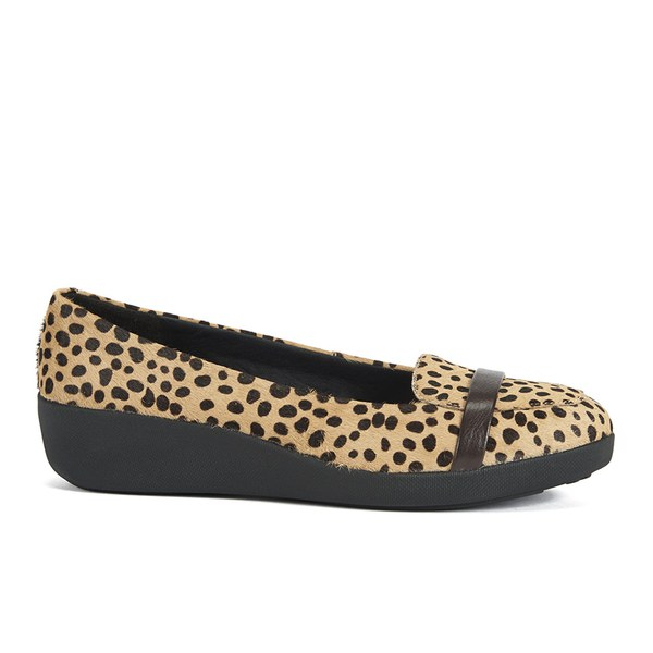 9118ecf7af4 FF2 by FitFlop Women s F-Pop Pony Hair Slip On Loafers - Leopard  Image