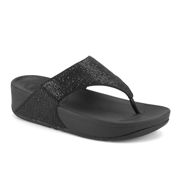 9fdccb29e2c6 FitFlop Women s Lulu Superglitz Flip Flop Sandals - Black  Image 5