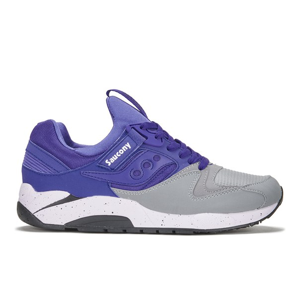 Saucony Grid Over Free 9000 Trainers £50 Uk Greyblue Men's Delivery PiTZwOkXul