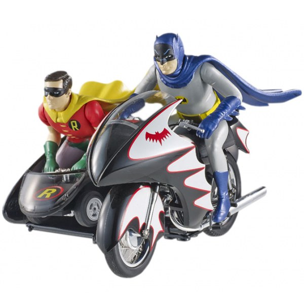 Hot Wheels Elite DC Comics Batman 1966 Batcycle 1:12 Scale Figure Set