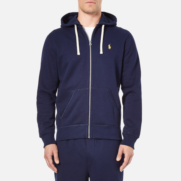 Polo Ralph Lauren Men's Zip Through Hooded Athletic Fleece - Cruise Navy