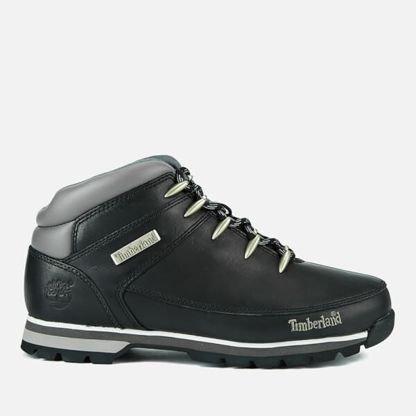 Timberland Men's Euro Sprint Hiker Boots - Black Smooth
