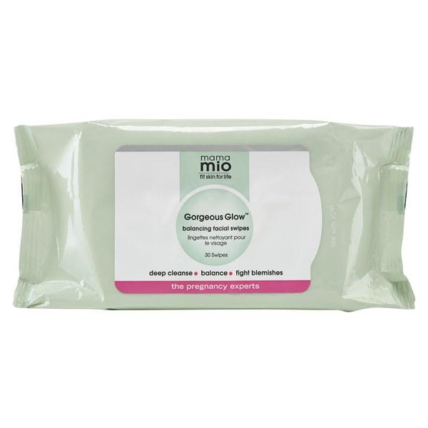 Mama Mio Gorgeous Glow Ausbalancierende Gesichtsreinigungstücher (30 Tücher)