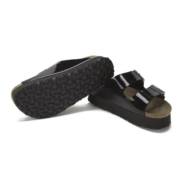 cfefdf0b0ce Birkenstock Papillio Women s Arizona Slim Fit Patent Double Strap Platform  Sandals - Black Patent  Image