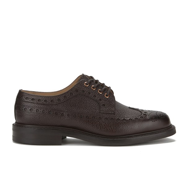 Private White VC X Cheaney Shoes Mens Stoll Leather Brogues - Walnut