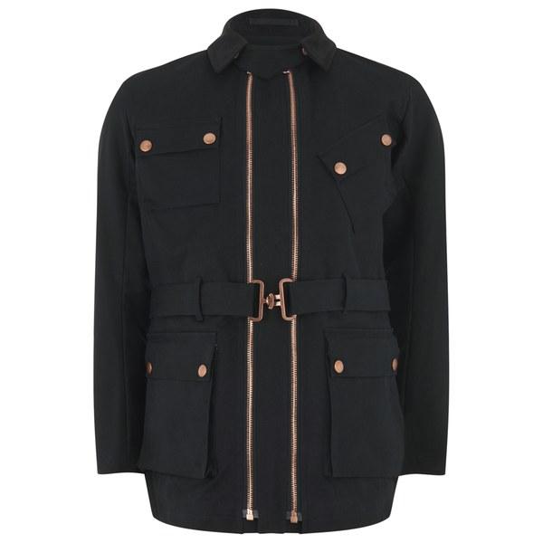 Private White VC Men's Twin-Track Cotton Canvas Jacket - Black
