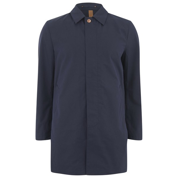 Private White VC Men's Single-Breasted Unlined Ventile Mac - Navy