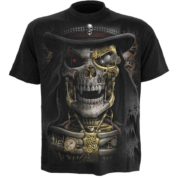 Spiral Men's STEAM PUNK REAPER T-Shirt - Black