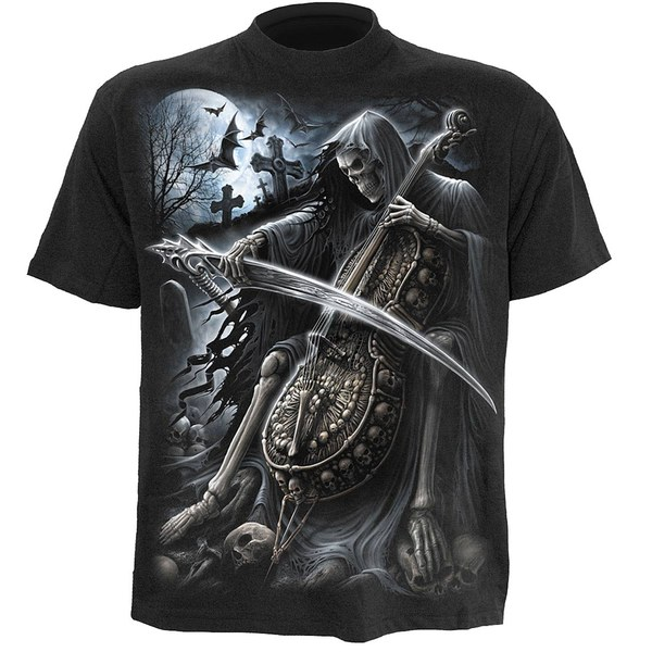 T-Shirt Homme SYMPHONY OF DEATH Spiral - Noir