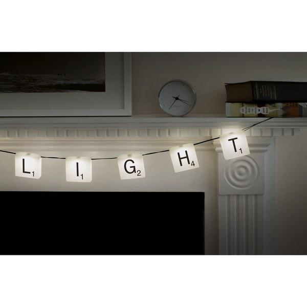 guirlande lumineuse scrabble unique gifts. Black Bedroom Furniture Sets. Home Design Ideas