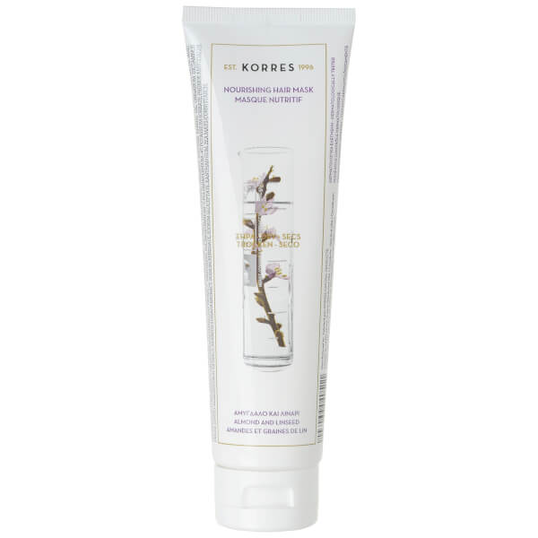 KORRES Almond and Linseed Mask for Dry and Damaged Hair (125ml).