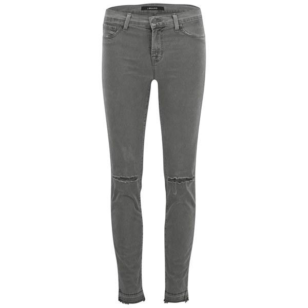 J Brand Women's Mid Rise 811 Skinny Jeans - Silver Fox