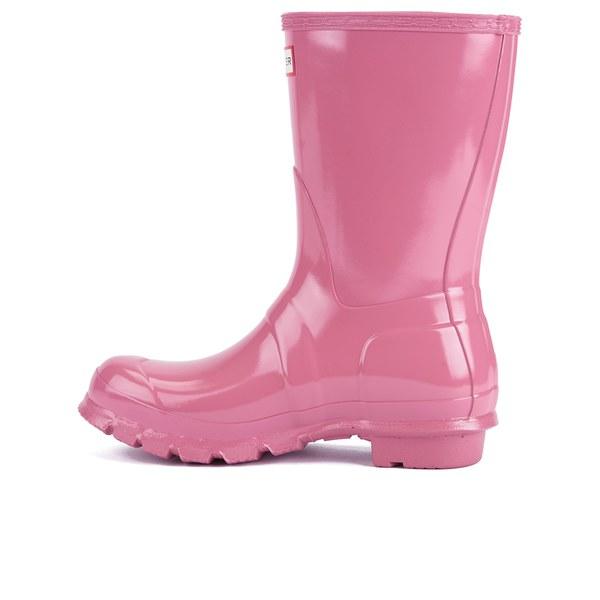 Womens Boots Hunter Original Short Gloss Rhodonite Pink
