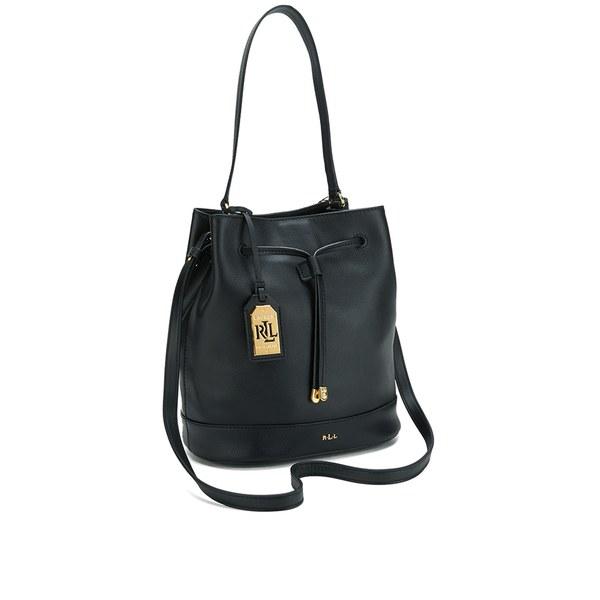 161639a395c3 ... clearance lauren ralph lauren womens crawley drawstring bag black black  image 2 0bbb1 9a930