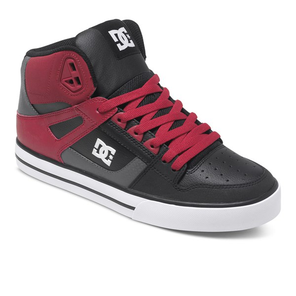 dc shoes high tops red and black. dc shoes men\u0027s spartan high top trainers - red/black/grey: image 4 dc tops red and black o