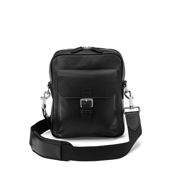 Aspinal of London Men's Harrison Small Messenger Bag - Black