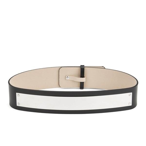 McQ Alexander McQueen Women's Metal Plate Waist Belt - Black