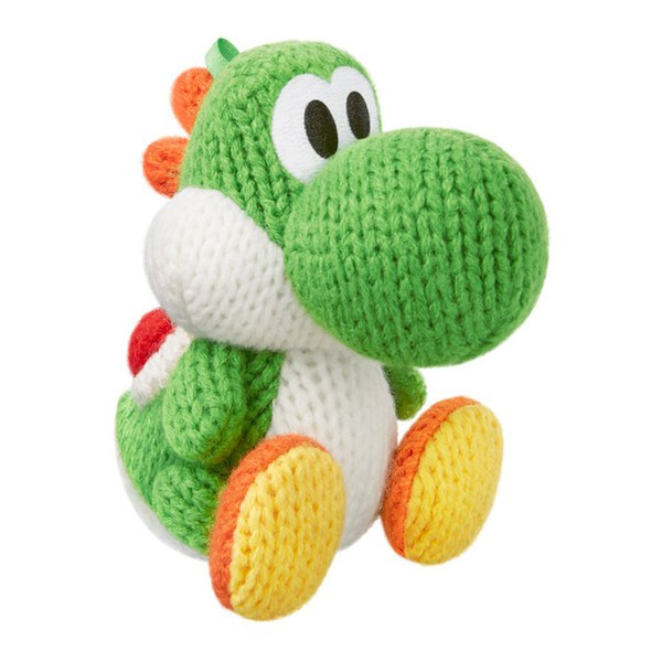 Amigurumi Teddy Bear Crochet Pattern : Yoshis Woolly World + Green Yarn Yoshi amiibo Nintendo ...