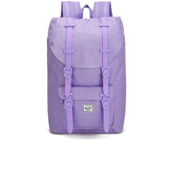 Herschel Supply Co. Classics Little America Mid Volume Backpack - Electric  Lilac Crosshatch Rubber  db99773fb4