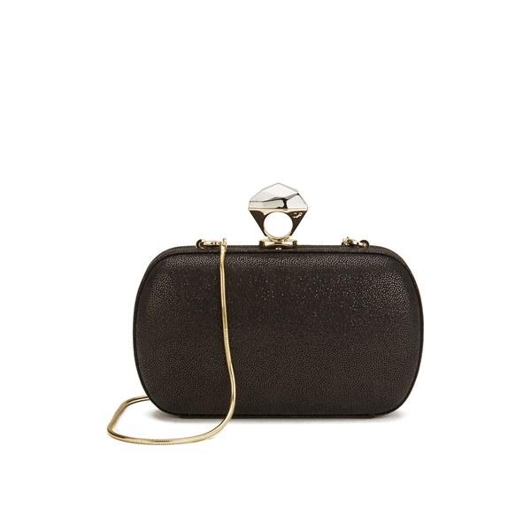 Diane von Furstenberg Women's Powerstone Minaudiere Sparkle Clutch Bag - Caviar Black