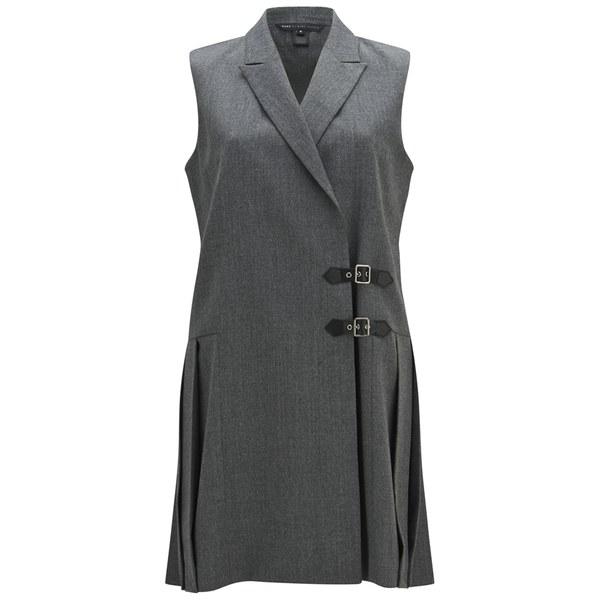 Marc by Marc Jacobs Women's Lightweight Wool Waistcoat Dress - Shadow Grey Melange