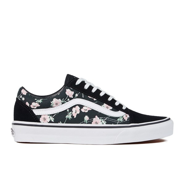 old skool vans women black and white