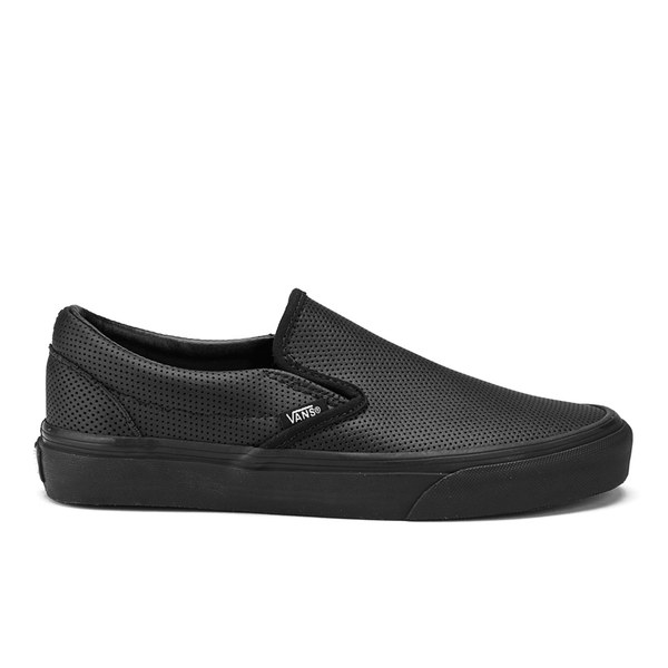 db8acbcf58e700 Vans Women s Classic Slip-On Perforated Leather Trainers - Black  Image 1