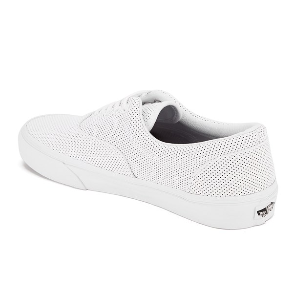 Vans Men s Era Perforated Leather Trainers - True White Mens ... a0ee07e8e