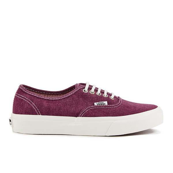 Vans Women's Authentic Slim Stripes Trainers - Washed/Tawny Port