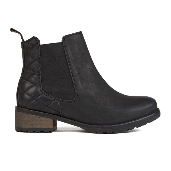 barbour s caveson leather chelsea boots black