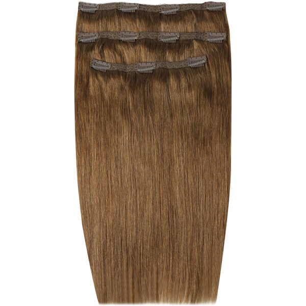 Beauty Works Deluxe Clip In Hair Extensions 18 Inch Caramel 6
