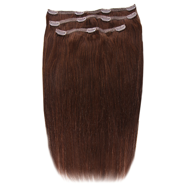 Extensions de cheveux à clip Deluxe 18 pouces de Beauty Works - Chocolat 4/6