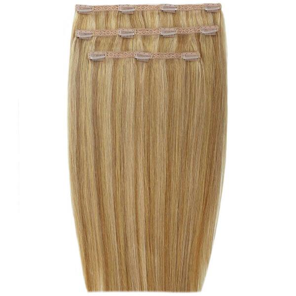 Extensions de cheveux à clip Deluxe 18 pouces de Beauty Works -Blond foncé10/14/16