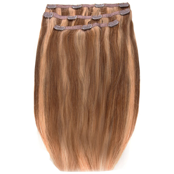 Beauty Works Deluxe Clip-In Hair-Extensions 18 Zoll - Gebräuntes Blonde 10/14/16
