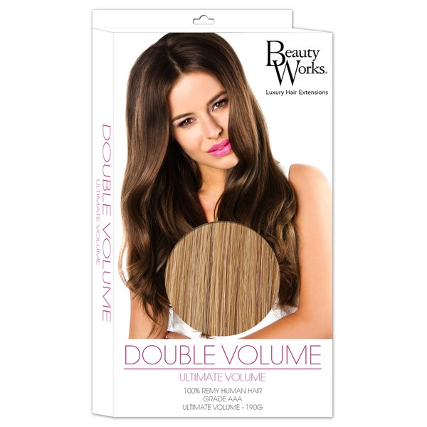 Beauty Works Double Volume Remy Hair Extensions Tanned Blonde 10