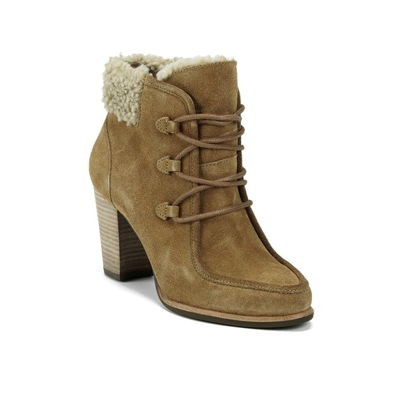 ugg s analise lace up heeled ankle boots chestnut