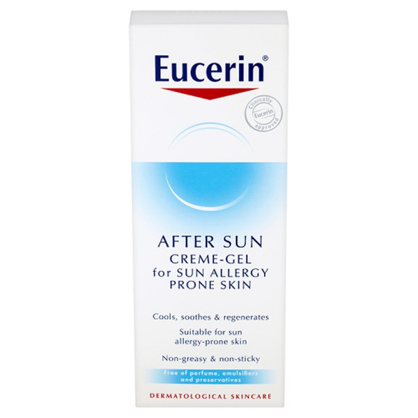 eucerin cr me gel apr s soleil pour peaux allergiques 150ml livraison internationale gratuite. Black Bedroom Furniture Sets. Home Design Ideas