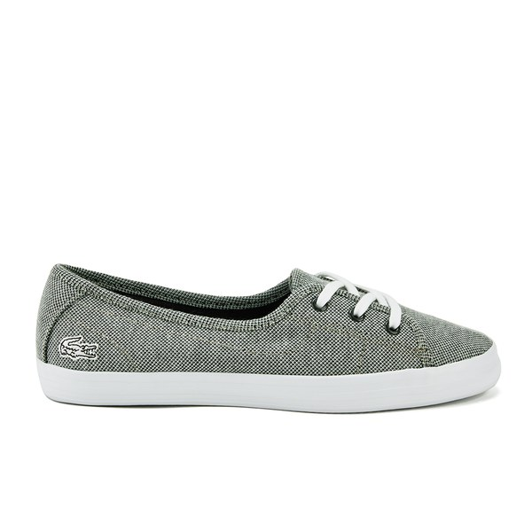 Lacoste Women's Ziane Chunky CRM Textile Slip On Pumps - Grey