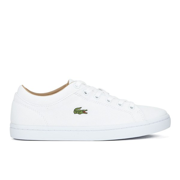 Lacoste Women's Straightset W Canvas Trainers - White