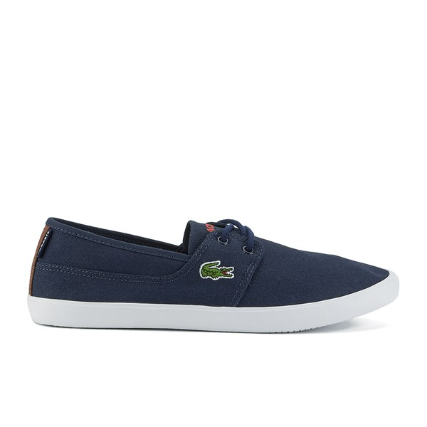 5e5881af1ed3cb Lacoste Men s Marice Lace SEP Canvas Slip On Pumps - Dark Blue  Image 1