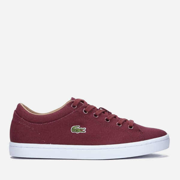 Lacoste Women's Straightset W Canvas Trainers - Dark Red