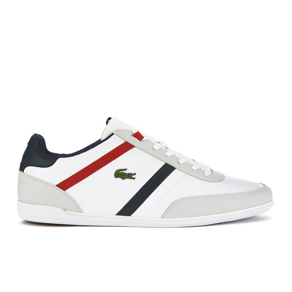 0c112647a48a8 Lacoste Men s Giron TCL Leather Trainers - White Clothing