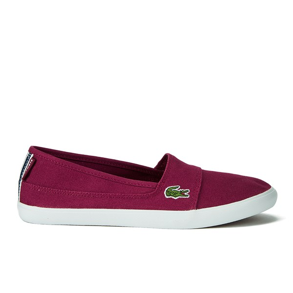 98e8922ab1cec Lacoste Women s Marice TRC Canvas Slip On Pumps - Dark Red Womens ...