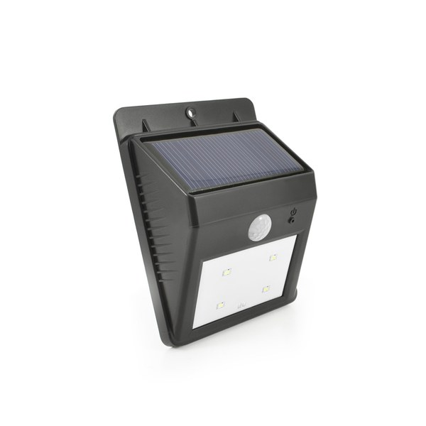 Eco Wedge Solar Motion Welcome Light Black Iwoot
