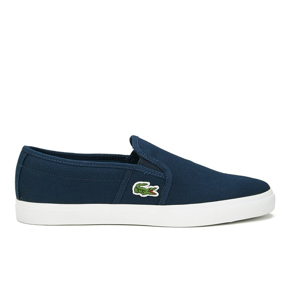 Lacoste Women's Gazon Sport HTB Canvas Slip-on Pumps - Dark Blue