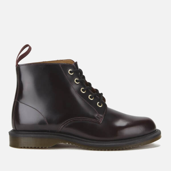 Dr. Martens Women's Emmeline Arcadia Leather 5-Eye Boots - Cherry Red